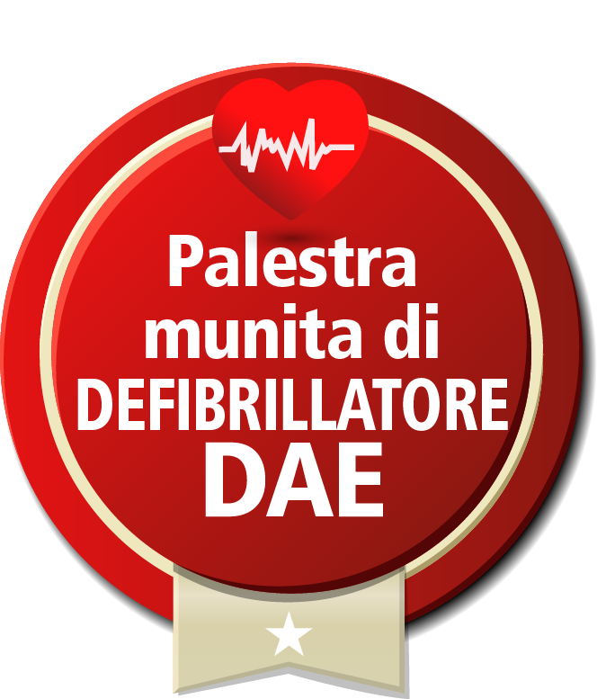 palagym palestra munita di defibrillatore dae